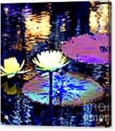 Lily Pond Fantasy Acrylic Print
