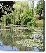 Lily Pond - Monets Garden - France Acrylic Print
