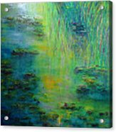 Lily Pond Tribute To Monet Acrylic Print