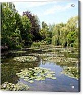 Lilypond Monets Garden Acrylic Print
