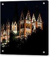 Limburg Cathedral At Night Acrylic Print
