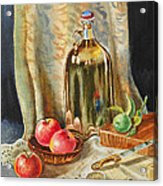 Lime And Apples Still Life Acrylic Print