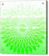 Lime Green Spirograph Acrylic Print