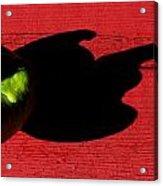 Lime Red Acrylic Print