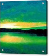 Lime Sunset Acrylic Print