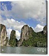 Limestone Karst Peaks Islands In Ha Long Bay Acrylic Print