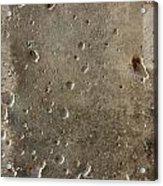 Limestone Pockmarked By Bullets Acrylic Print