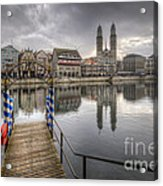 Limmat River Reflections Acrylic Print