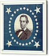 Lincoln 1860 Presidential Campaign Banner - Bust Portrait Acrylic Print