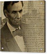 Lincoln At Gettysburg Acrylic Print