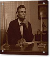 Lincoln At His Desk Acrylic Print by Ray Downing