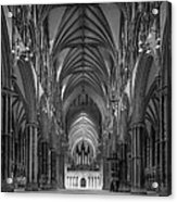 Lincoln Cathedral Nave Acrylic Print by Ian Barber
