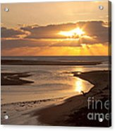 Lincoln City Sunset Acrylic Print by John Daly