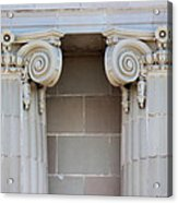 Lincoln County Courthouse Columns Acrylic Print