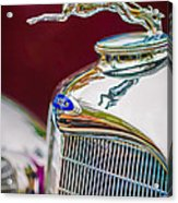 Lincoln Hood Ornament - Grille Emblem -1187c Acrylic Print by Jill Reger