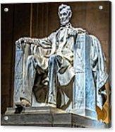 Lincoln In Memorial Acrylic Print