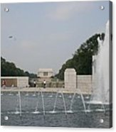 Lincoln Memorial And Fountain - Washington Dc Acrylic Print