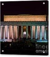 Lincoln Memorial At Night Acrylic Print