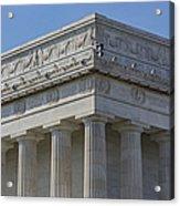 Lincoln Memorial Columns  Acrylic Print by Susan Candelario