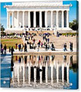 Lincoln Memorial Acrylic Print by Greg Fortier