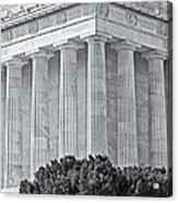 Lincoln Memorial Pillars Bw Acrylic Print