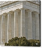 Lincoln Memorial Pillars Acrylic Print