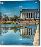 Lincoln Memorial Reflection Acrylic Print