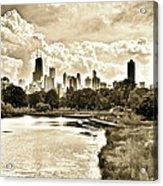 Lincoln Park View Sepia Acrylic Print