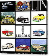 Poster Of Lincoln Cars Acrylic Print