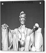 Lincoln Sitting Acrylic Print
