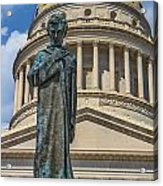 Lincoln Stands Guard Acrylic Print