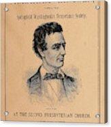 Lincoln Temperance, 1842 Acrylic Print