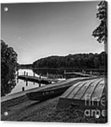 Lincoln Trail State Park Bw Acrylic Print