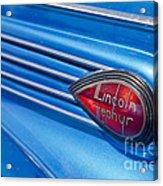 Lincoln Zephyr Acrylic Print