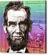 Lincoln's Billboard Of History Acrylic Print