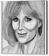 Linda Evans In 1984 Acrylic Print