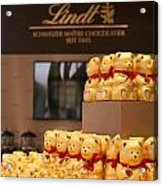 Lindt Chocolate Boutique In Vienna - Austria Acrylic Print