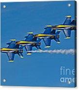 Line Astern- Blue Angels Acrylic Print