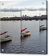 Line Of Boats On The Charles River Acrylic Print