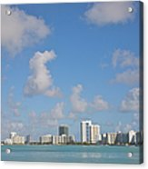 Line Of White Residential Towers Above Acrylic Print
