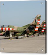 Line-up Of Hellenic Air Force T-2 Acrylic Print