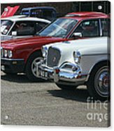 A Line Up Of Vintage Cars Acrylic Print