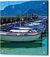 Lined Up Fleet In Sicily Acrylic Print