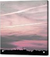 Lines In The Sky Acrylic Print