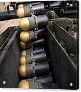 Linked 40mm Rounds Feed Into A Mark 19 Acrylic Print