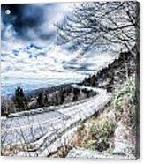 Linn Cove Viaduct Winter Scenery Acrylic Print