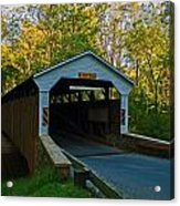 Linton Stevens Covered Bridge Acrylic Print