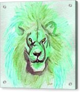 Lion Blue By Jrr Acrylic Print