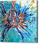 Lion Fish Blue Acrylic Print