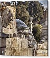 Lion Fountain In Rome Italy Acrylic Print